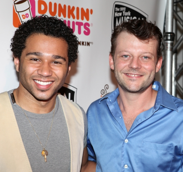 Corbin Bleu and Jeremy Kushnier at Corbin Bleu, Jeremy Kushnier et al. Backstage at the NYMF Preview Performance!