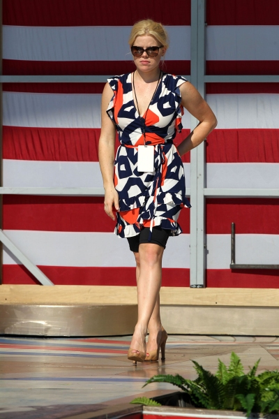 Photo Flash: Megan Hilty Rehearses for PBS' A CAPITOL FOURTH in Washington, D.C.!