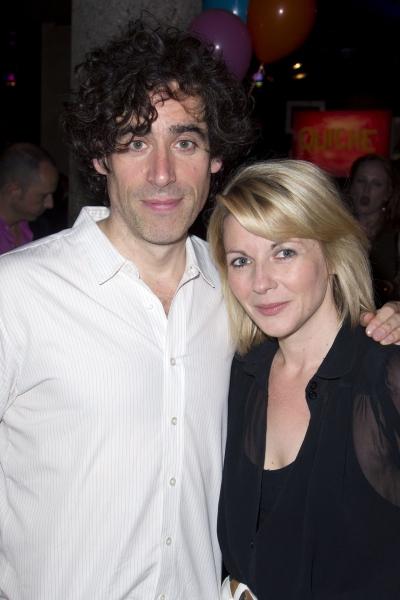 Stephen Mangan (Ed) and Lisa Dillon (Lisa)'Birthday' play after party at the Royal Court Theatre, London, Britain - 05 Jul 2012