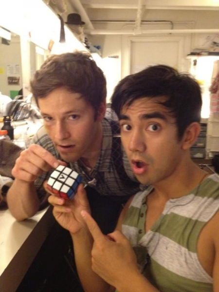 NEWSIES' Thayne Jasperson and Aaron Albano