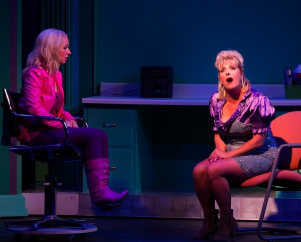 Elle (Caitlin Elizabeth Reilly*) listens as Paulette (Kim Bush) sings about her dreams of Ireland. at Beck Center's LEGALLY BLONDE