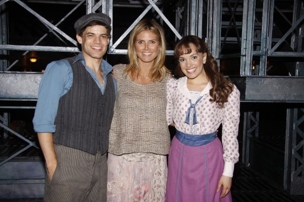 Jeremy Jordan, Heidi Klum, Kara Lindsay Photo