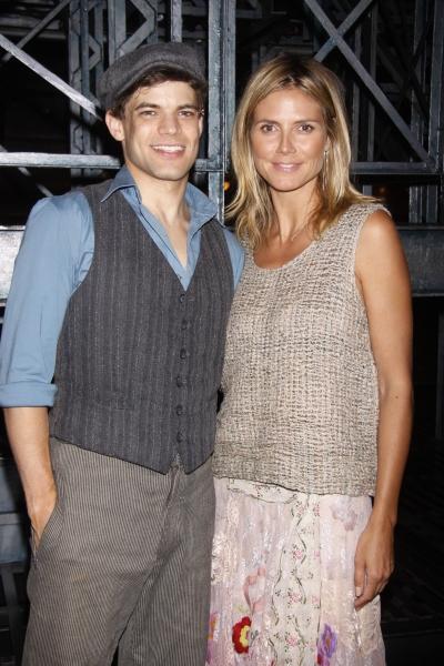 Photo Flash: Heidi Klum Visits NEWSIES on Broadway!