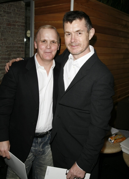 Scott Ellis (Director- THE LITTLE DOG LAUGHED) and Martin Pakledinaz ( Costume Design- THE TRIP TO BOUNTIFUL ) Attending the Nominees' Cocktail Party at Therapy for the 21st Annual Lucille Lortel Awards for Outstanding Achievement Off-Broadway. New York C