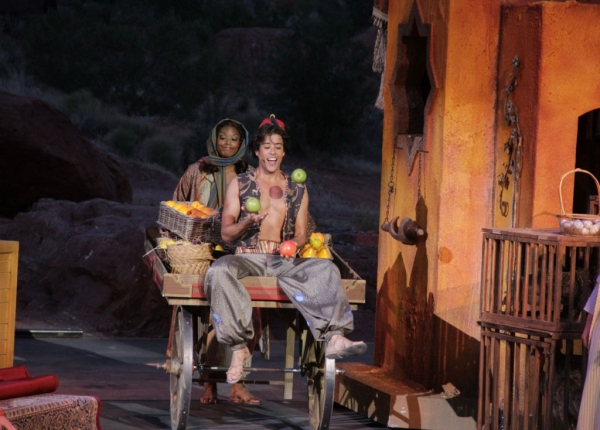 Dan Domenech and Brooke Aston at First Look at Dan Domenech, Haley Carlucci & More in Tuacahn's ALADDIN
