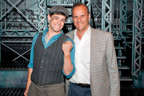 Photo Flash: Joe Torre Visits NEWSIES on Broadway