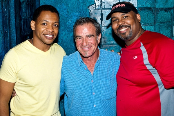 Derrick Baskin, Tico Torres and James Monroe Iglehart