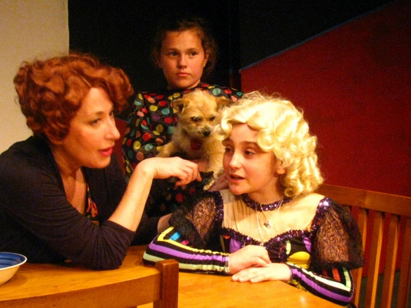 Margo O'Moore (Momma Rose) with Moriah Tobin (Baby June) and Marissa Marciano (Baby Louise)