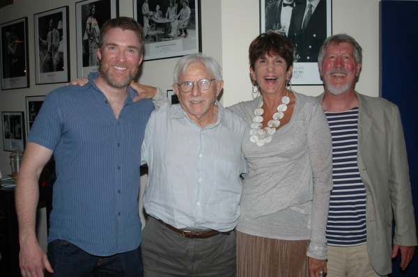 Brian Hutchison, Joe Pintauro, Mercedes Ruehl and David Geiser at Opening Night at Bay Street Theatre's MEN'S LIVES