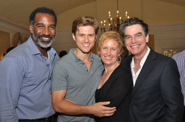 Norm Lewis, Aaron Tveit, Liz Callaway and Peter Gallagher at Liz Callaway, Norm Lewis and More Join Actors Fund at 2nd Annual CelebriTee Golf & Tennis Outing