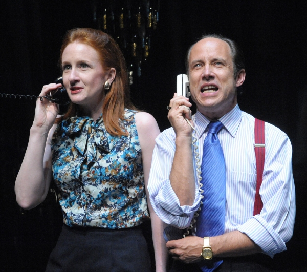 Megan Byrne and Alex Draper at PTP/NYC Presents Caryl Churchill's SERIOUS MONEY, Opening Tonight, 7/10