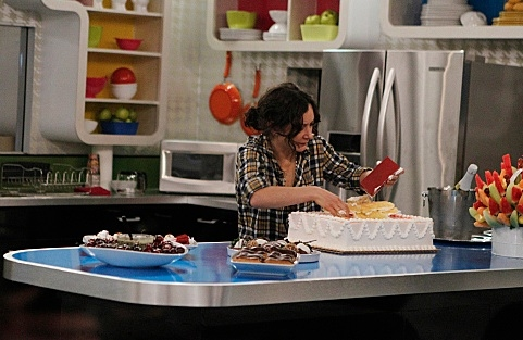 Sara Gilbert at First Look - THE TALK Hosts Visit 'Big Brother'