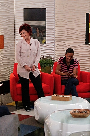 Sharon Osbourne, Aisha Tyler at First Look - THE TALK Hosts Visit 'Big Brother'