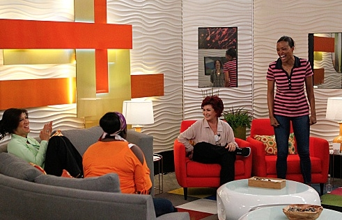 Julie Chen, Sheryl Underwood, Sharon Osbourne, Aisha Tyler at First Look - THE TALK Hosts Visit 'Big Brother'