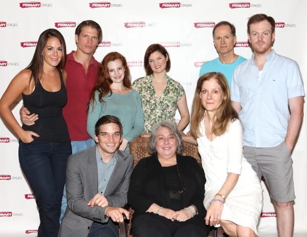 Jenny Dare Paulin, Alexander Cendese, Evan Jonigkeit, Andrea Lynn Green, Jayne Houdyshell, Mary Bacon, Hallie Foote, Devon Abner and Jeremy Bobb at FREEZE FRAME: Meet the Company of Primary Stages' HARRISON, TX