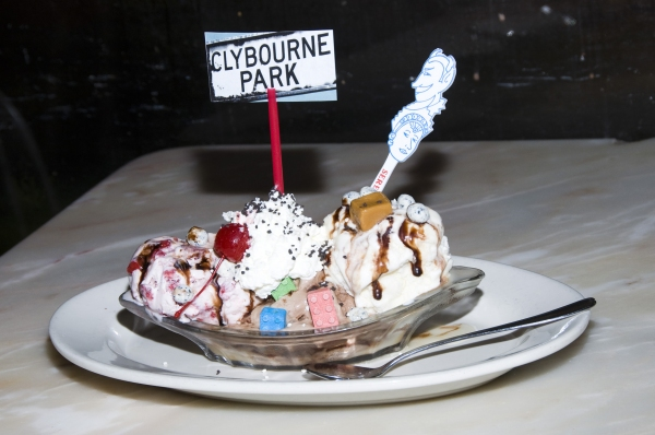 Photo Flash: CLYBOURNE PARK Cast Visits Serendipity 3!