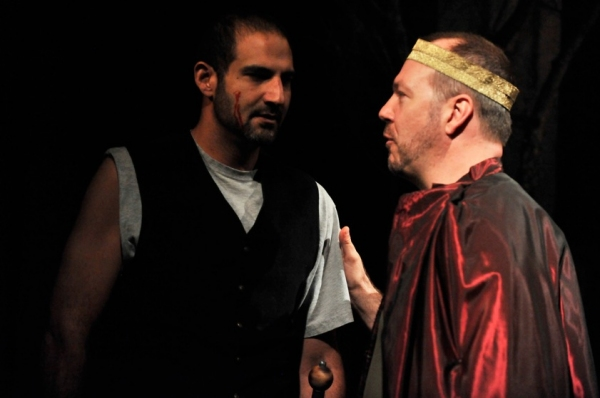 Brian Abraham and Rob Nagle at First Look at the Thanes Cast of Antaeus' MACBETH