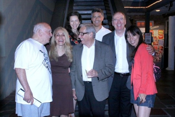 Cast with Playwright (Back Row: L to R) Dahlia Waingort, Esai Morales                                         (Front Row: L to R) Ed Asner, Beege Barkette, Mark Rydell, Brian Connors, Chihiro Kawamura