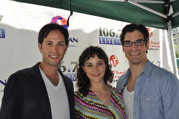 Kyle Barisich, Trista Moldovan and Paul A. Schaefer from Phantom Of The Opera at SPIDER-MAN, PORGY AND BESS and More at Broadway in Bryant Park!