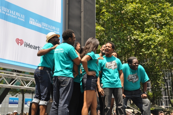 Nikki Renee Daniels, Trevon Davis, Nathaniel Stampley and The Cast of The Gershwins' Porgy and Bess at SPIDER-MAN, PORGY AND BESS and More at Broadway in Bryant Park!