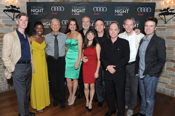 The cast of 'The Exorcis': Tom Nelis, Roslyn Ruff, Richard Chamberlain, Brooke Shields, Harry Groener, Emily Yetter, David Wilson Barnes, Teller, Stephen Bogardus and Manoel Felciano at Brooke Shields, Richard Chamberlain and More at THE EXORCIST Opening Night Party!