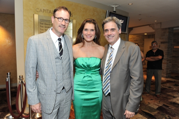 "Managing Director of the Geffen Playhouse Ken Novice, Brooke Shields and Arney Artistic Director of the Geffen Playhouse Randall Arney attend the world premiere opening of ""The Exorcist"" at the Geffen Playhouse on Wednesday July 11, 2012 in Westwood, Cali"