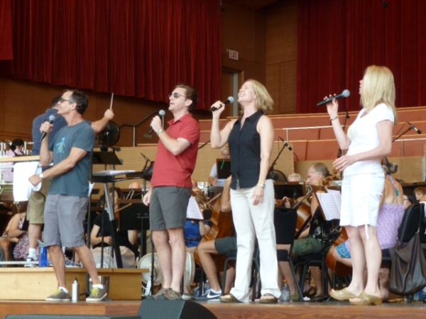 Howard McGillan, Jason Danieley, Rebecca Luker and Marin Mazzie