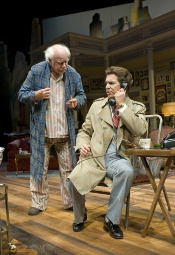 Peter Michael Goetz as Willie Clark and Robert O. Berdahl as Ben Silverman Photo