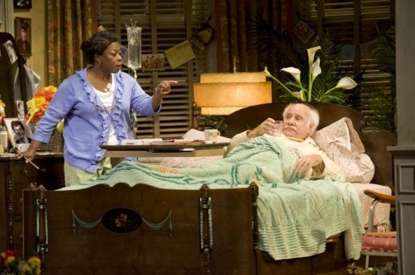 Greta Oglesby as Registered Nurse and Peter Michael Goetz as Willie Clark at First Look at Peter Michael Goetz and Raye Birk in Guthrie's THE SUNSHINE BOYS