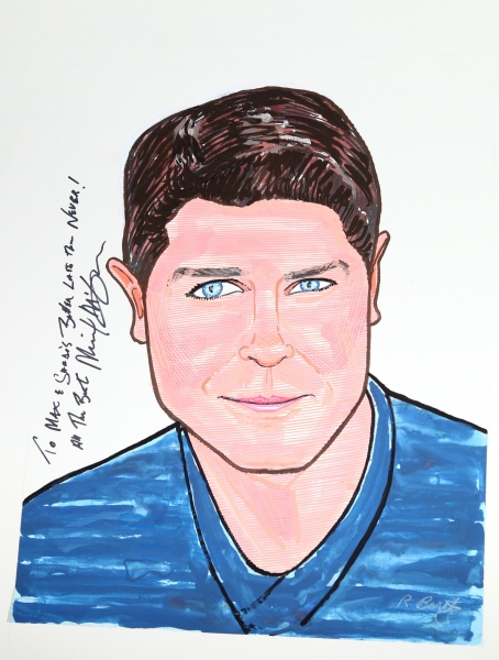 Michael McGrath at NICE WORK IF YOU CAN GET IT's Michael McGrath Gets Sardi's Caricature