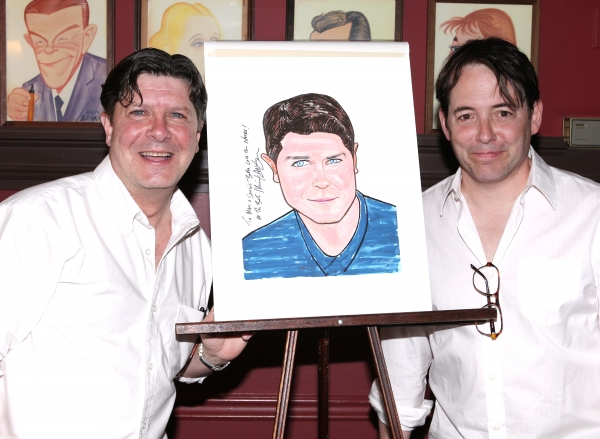 Photo Coverage: NICE WORK IF YOU CAN GET IT's Michael McGrath Gets Sardi's Caricature