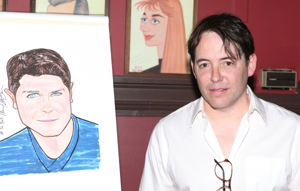 Matthew Broderick at NICE WORK IF YOU CAN GET IT's Michael McGrath Gets Sardi's Caricature