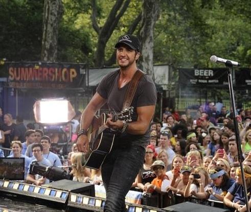 Luke Bryan at Country Music Star Luke Bryan Performs on GMA
