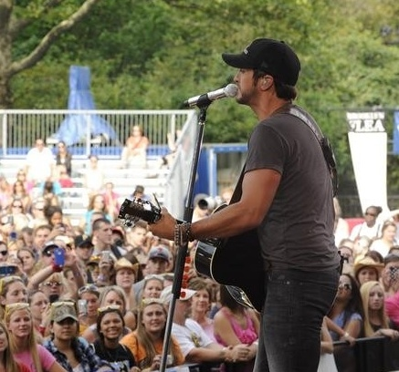 Luke Bryan at Country Music Star Luke Bryan Performs on GMA