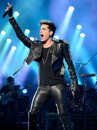 Adam Lambert at Adam Lambert Performs UK Concerts With QUEEN