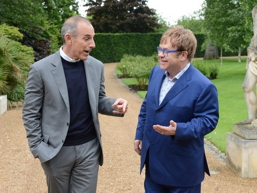 Matt Lauer & Elton John at First Look - TODAY's Matt Lauer Interviews Elton John