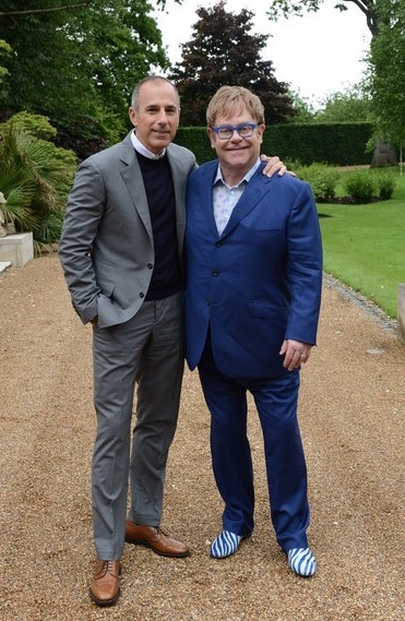 Matt Lauer & Elton John at First Look - TODAY's Matt Lauer Interviews Elton John