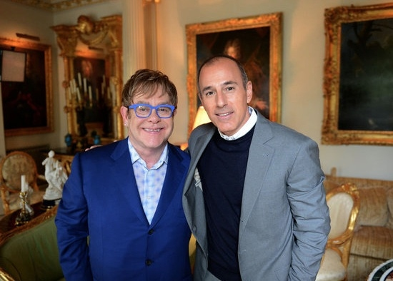 Elton John & Matt Lauer at First Look - TODAY's Matt Lauer Interviews Elton John