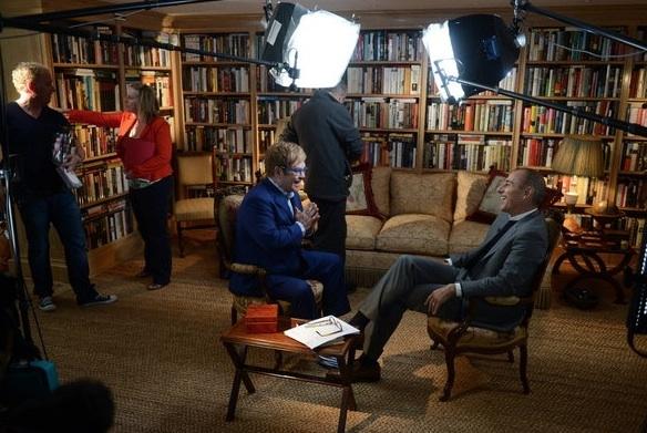 Elton John & Matt Lauer at First Look - TODAY's Matt Lauer Interviews Elton John