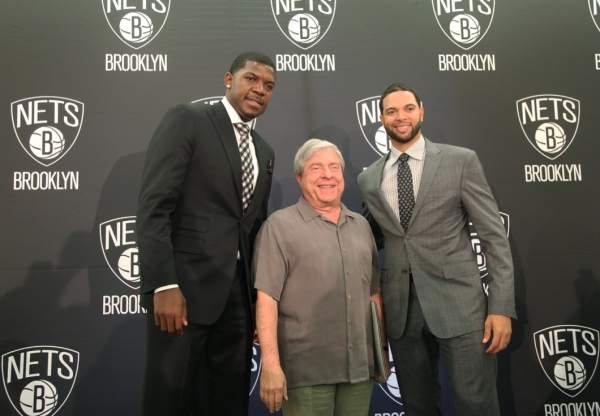 BP Marty Markowitz with Joe Johnson and Deron Williams