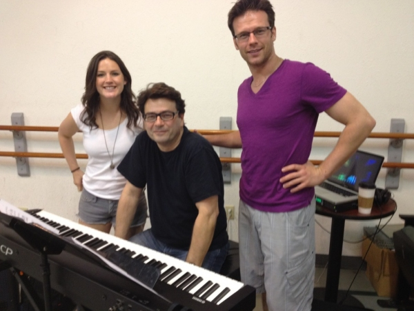 Carrie Manolakos, Mark Gasbarro and Nicolas Dromard at Nicolas Dromard, Carrie Manolakos, Leah Horowitz & More Rehearse for DREAM THE IMPOSSIBLE DREAM