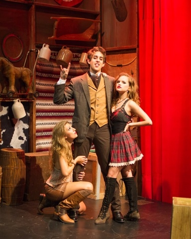 Left to Right:  Morgan Starr (Ten Little Indians Soloist); Billy Cohen (James Monroe); Stephanie Styles (Rachel Jackson) Suggested Caption:  Three Tommy Tune Award Winners:  Morgan Best Supporting 2012, Billy Best 2012, Stephanie Best Actres
