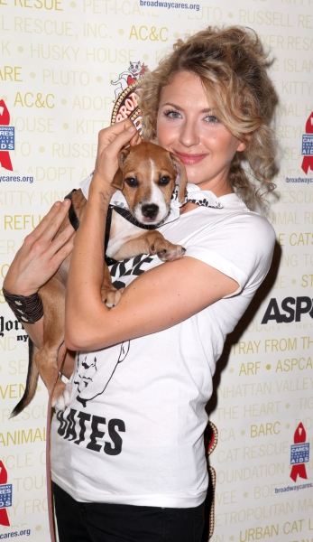 Nina Arianda (Venus in Fur) at Bernadette Peters, Mary Tyler Moore & Broadway Stars Backstage at Broadway Barks 14!