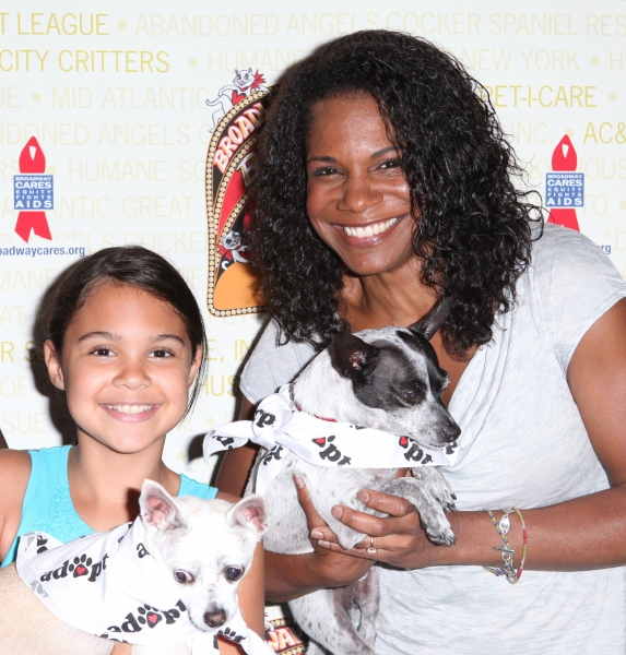 Audra McDonald & daughter Zoe Madeleine Donovan (Porgy and Bess) at Bernadette Peters, Mary Tyler Moore & Broadway Stars Backstage at Broadway Barks 14!