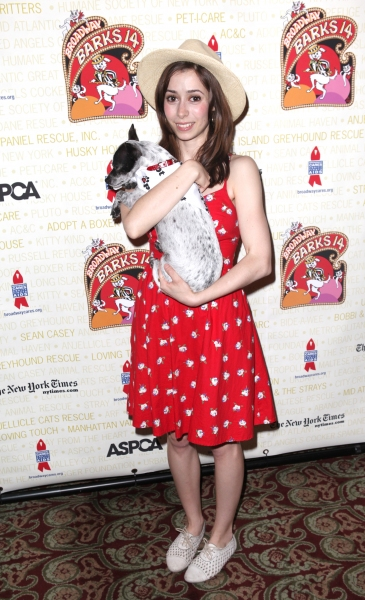 Cristin Milioti (Once) at Bernadette Peters, Mary Tyler Moore & Broadway Stars Backstage at Broadway Barks 14!