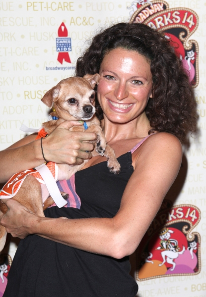 Jackie Burns (Wicked)  at Bernadette Peters, Mary Tyler Moore & Broadway Stars Backstage at Broadway Barks 14!