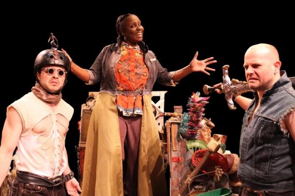 Pictured L-R are Bud (Ross Bautsch), Zetta (Tamara Siler), and Coke (David Wald). Photo