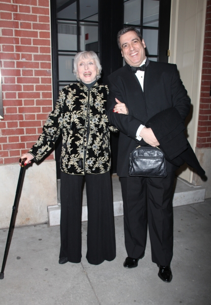 Celeste Holm & Frank Basile arriving the Broadway Opening Night Performance of ALL ABOUT ME at the Henry Miller Theatre, New York City. March 18, 2010