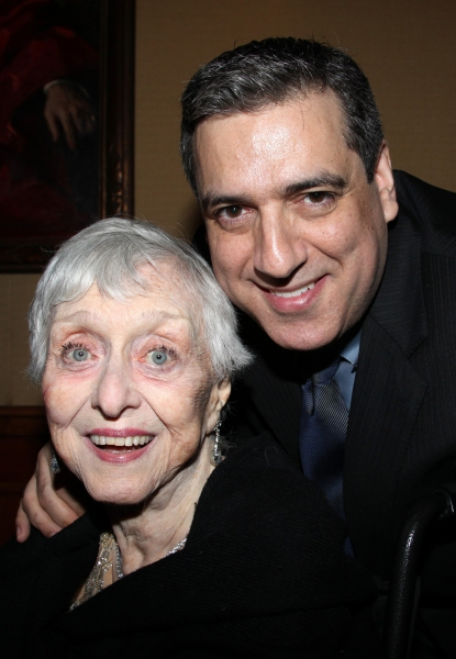 Celeste Holm & Frank Basile attending the 'Friends of Arts' Awards at the Princeton Club in New York City.