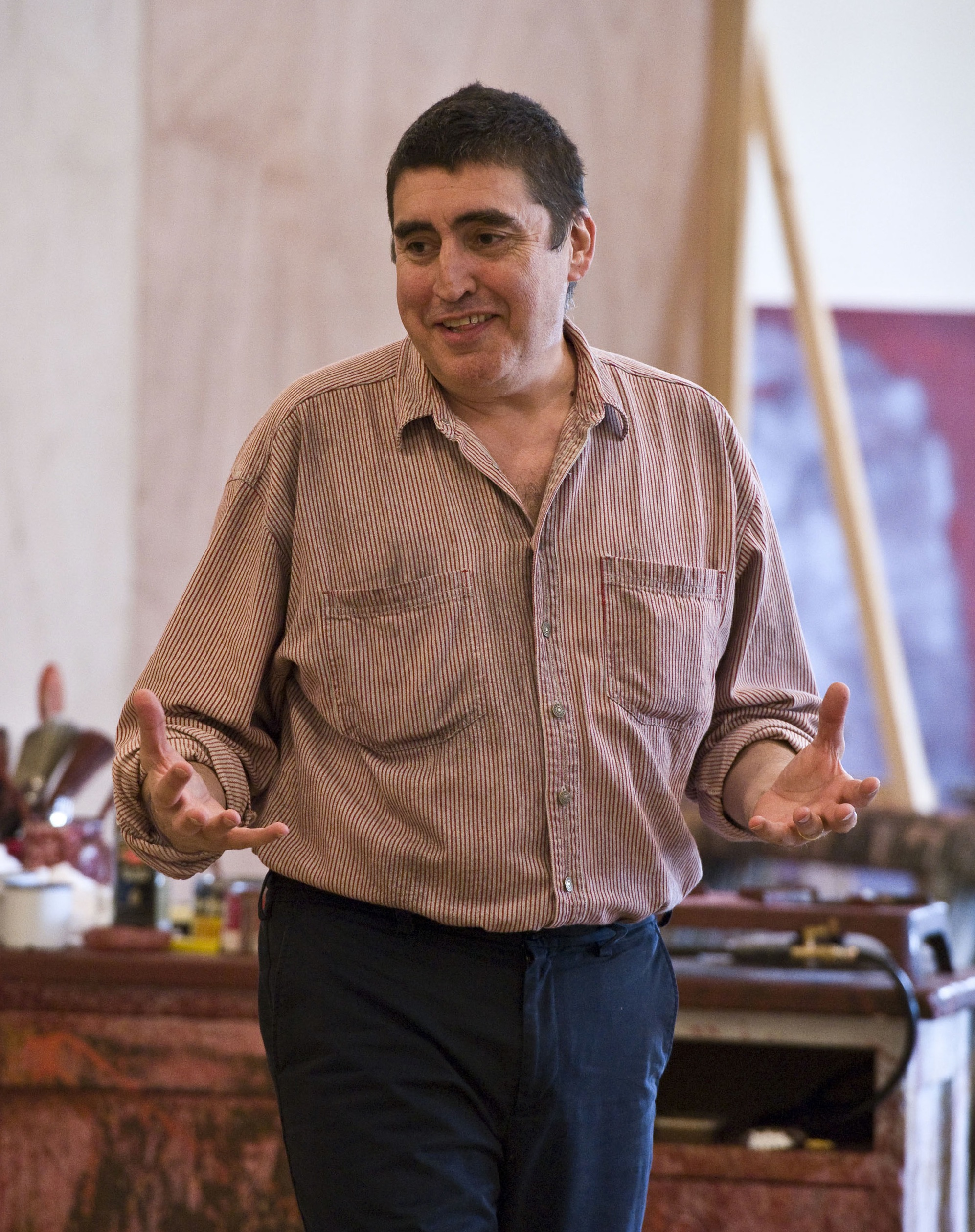 Photo Flash: Jonathan Groff, Alfred Molina in Rehearsal for RED